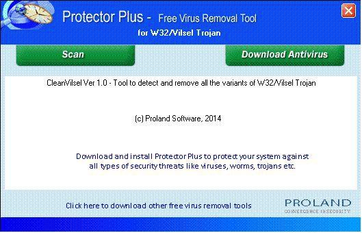 Vorschau W32-Vilsel Free Trojan Removal Tool - Bild 1