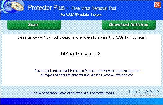 Vorschau W32-Pushdo Free Trojan Removal Tool - Bild 1