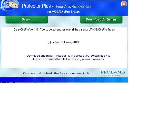 Vorschau W32-CleanChePro Free Trojan Removal Tool - Bild 1