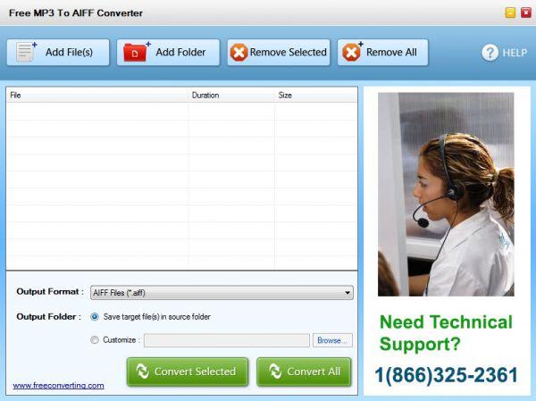 Vorschau Free MP3 to AIFF Converter - Bild 1