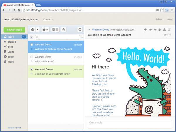 Vorschau AfterLogic WebMail Lite PHP - Bild 1