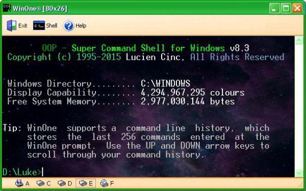 Vorschau WinOne Free Command Line for Windows - Bild 1