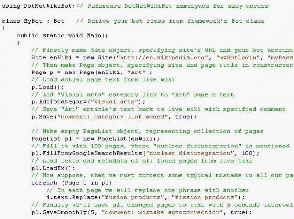 Vorschau DotNetWikiBot Framework - Bild 1