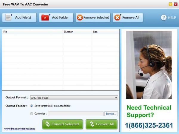 Vorschau Free WAV to AAC Converter - Bild 1