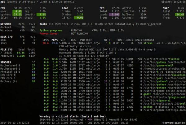 Vorschau Glances for Linux - Bild 1