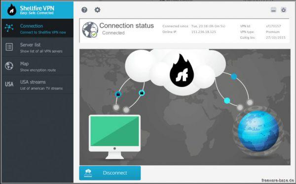 Vorschau Shellfire VPN for Mac - Bild 1