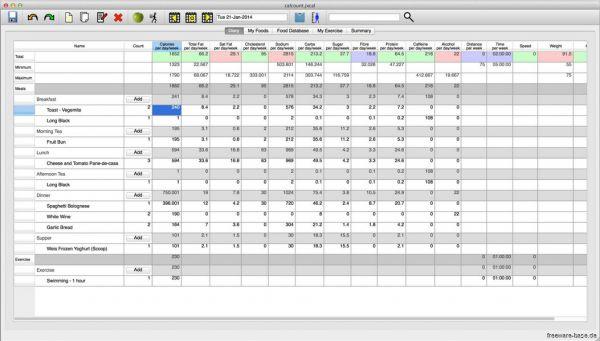 Vorschau JXCirrus CalCount for Mac - Bild 1