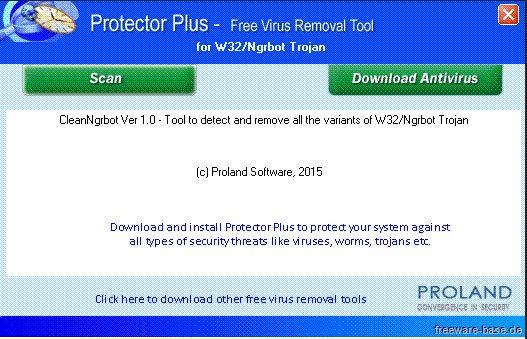 Vorschau W32-NgrBot Free Virus Removal Tool - Bild 1