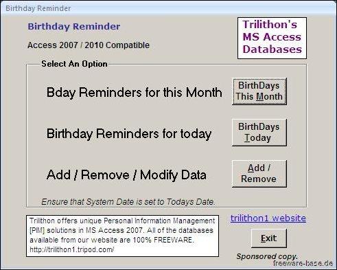 Vorschau Birthday Reminder - Bild 1