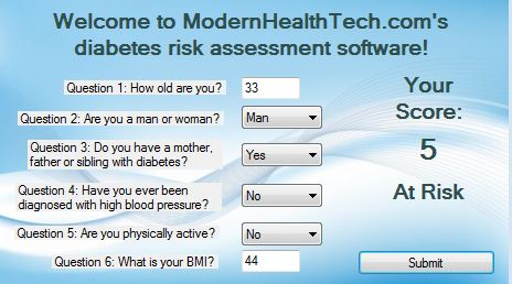 Vorschau Modern Health Tech Diabetes Risk Assessm - Bild 1