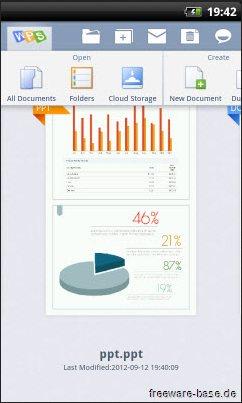 Vorschau Kingsoft Android Office International - Bild 1