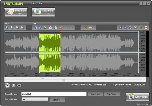 Vorschau FreeTrim MP3 - Bild 1