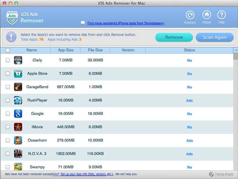 Vorschau iOS Ads Remover for Mac - Bild 1