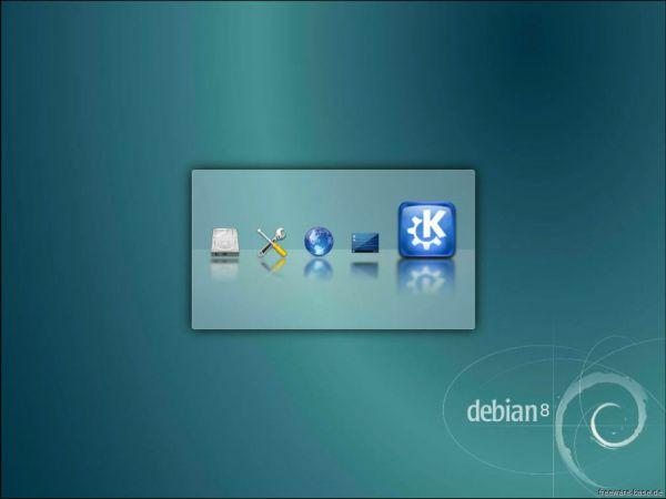Vorschau Debian Live System KDE - Bild 1