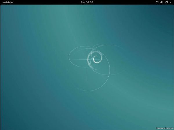 Vorschau Debian Live System GNOME - Bild 1
