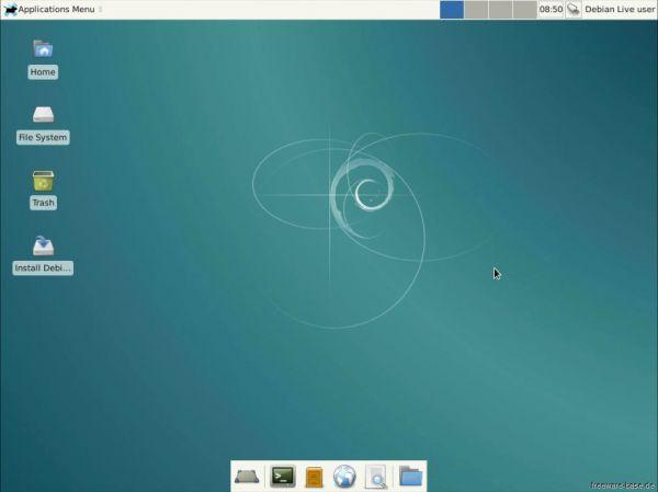 Vorschau Debian Live System XFCE - Bild 1