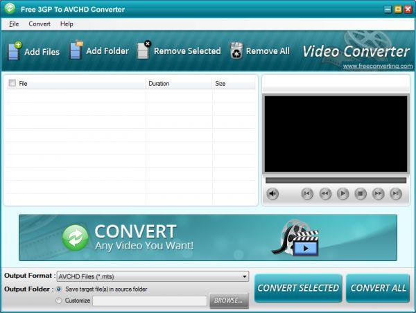 Vorschau Free 3GP to AVCHD Converter - Bild 1