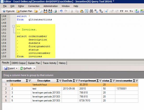 Vorschau Invantive SQL Query Tool for Exact Online - Bild 1