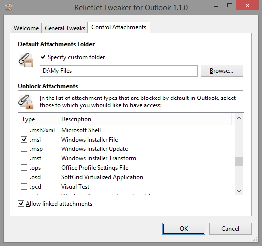 Vorschau ReliefJet Tweaker for Outlook - Bild 1