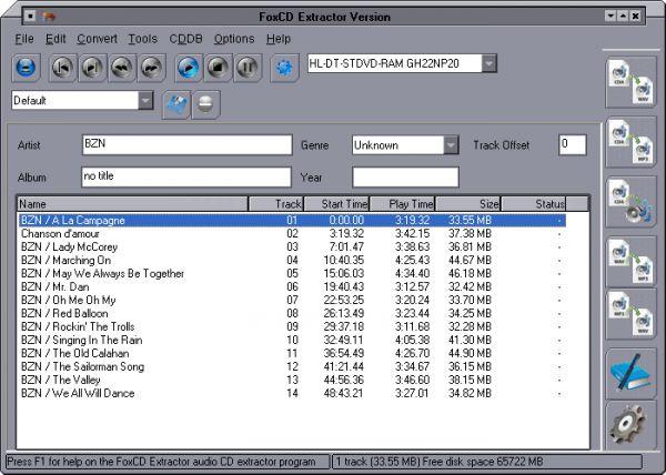 Vorschau Fox CD Extractor - Bild 1