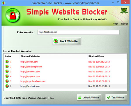 Vorschau Simple Website Blocker - Bild 1
