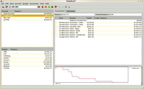 Vorschau JXCirrus Finance for Linux - Bild 1
