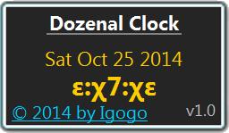Vorschau Dozenal Clock - Bild 1