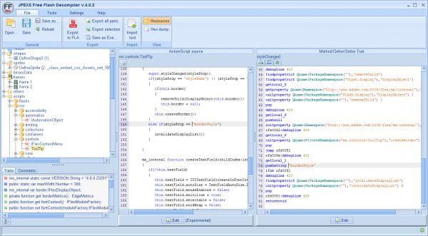 Vorschau JPEXS Free Flash Decompiler - Bild 1