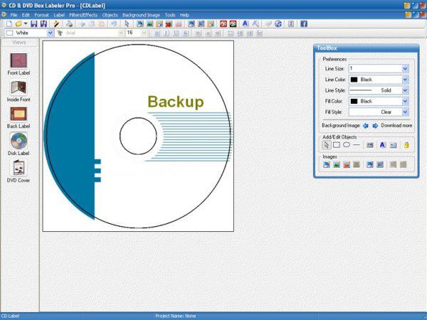 Vorschau CD and DVD Box Labeler Pro 2015 - Bild 1