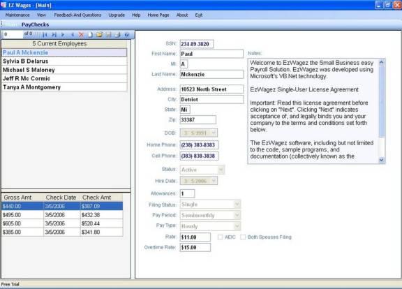 Vorschau EzWagez Payroll System - Bild 1
