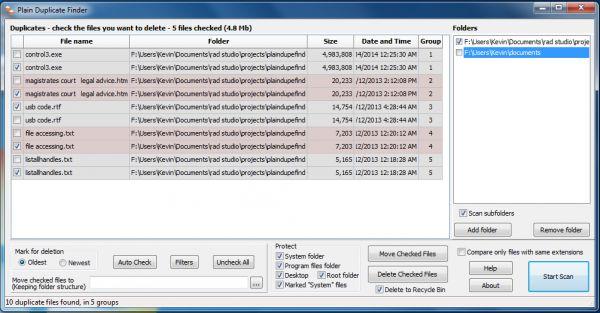 Vorschau Plain Duplicate Finder - Bild 1