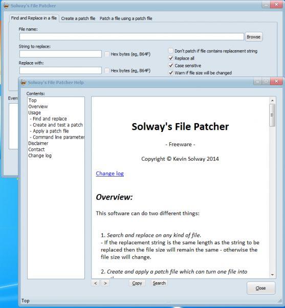 Vorschau Solways File Patcher - Bild 1
