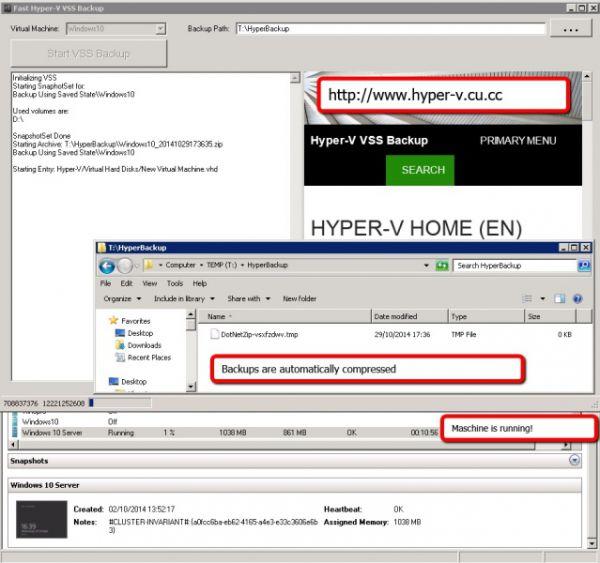 Vorschau HyperV VSS Backup - Bild 1