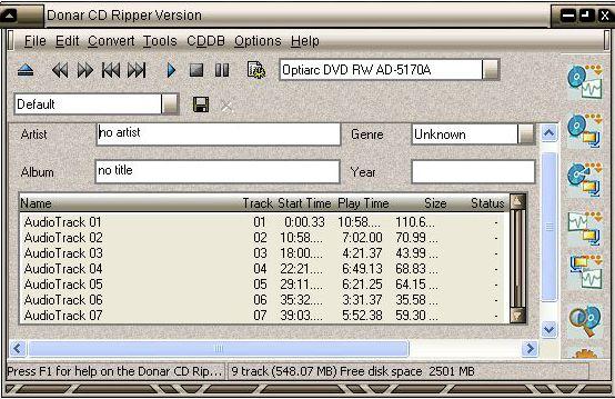 Vorschau Donar CD Ripper - Bild 1