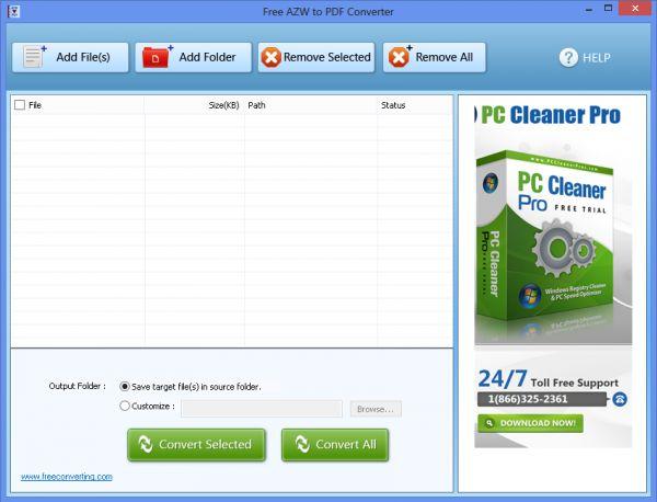 Vorschau Free AZW to PDF Converter - Bild 1
