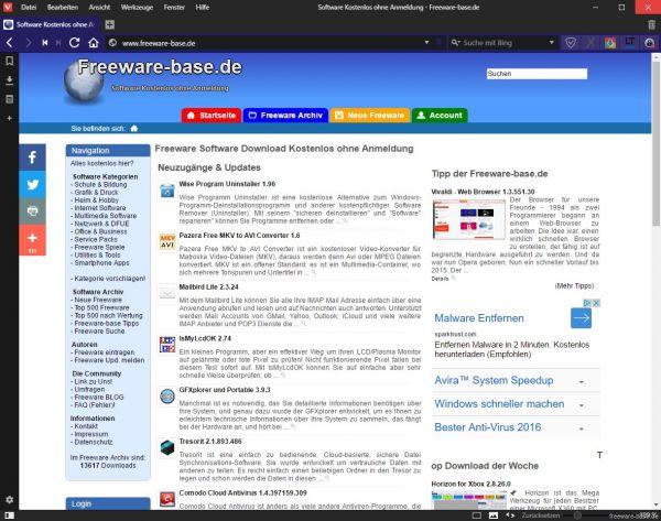 Vorschau Vivaldi - Web Browser - Bild 1
