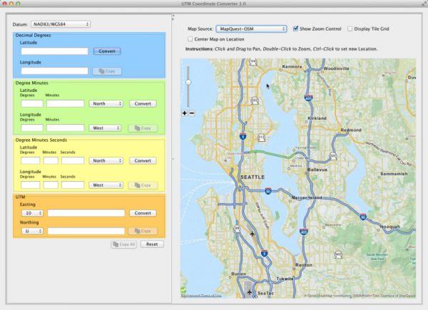 Vorschau UTM Coordinate Converter Mac - Bild 1