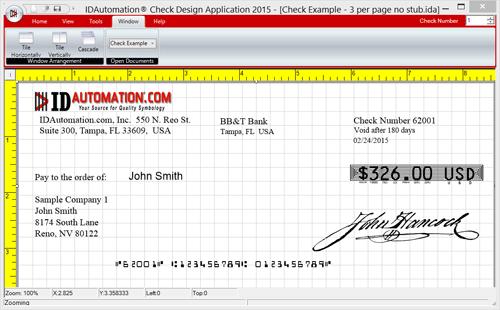 Vorschau Check Printing Design Software - Bild 1