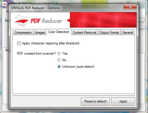 Vorschau ORPALIS PDF Reducer Free - Bild 1