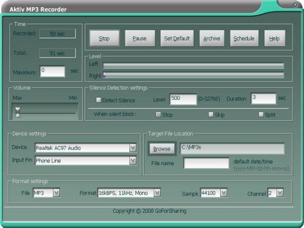 Vorschau Aktiv MP3 Recorder - Bild 1