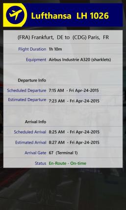 Vorschau Runway Tracker for Windows Phone 8 - Bild 1