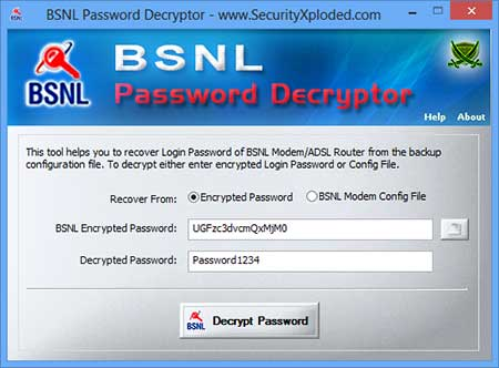 Vorschau BSNL Password Decryptor - Bild 1