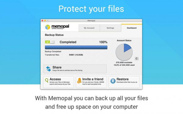 Vorschau Memopal Online Backup - Bild 1