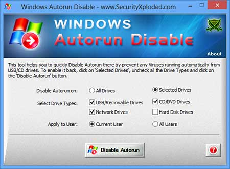 Vorschau Disable Windows Autorun - Bild 1