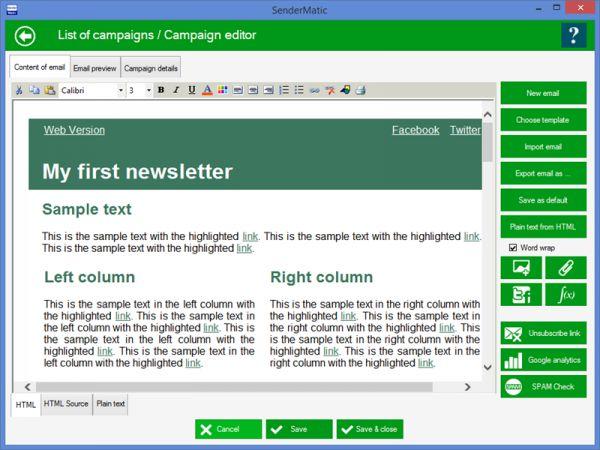 Vorschau SenderMatic emailer - Bild 1