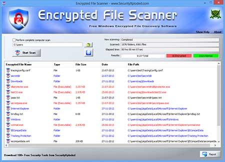 Vorschau Encrypted File Scanner - Bild 1