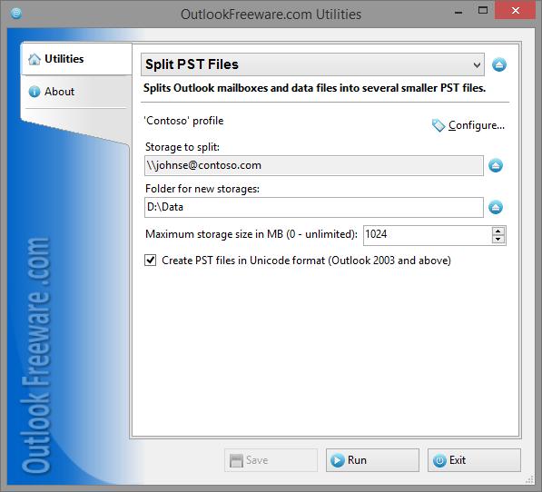 Vorschau Split PST Files - Bild 1