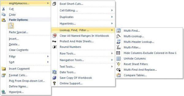 Vorschau mightymacros Excel Utilities - Bild 1
