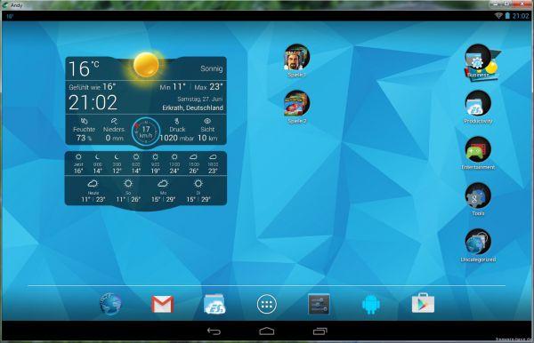 Vorschau Andy Android Emulator - Bild 1