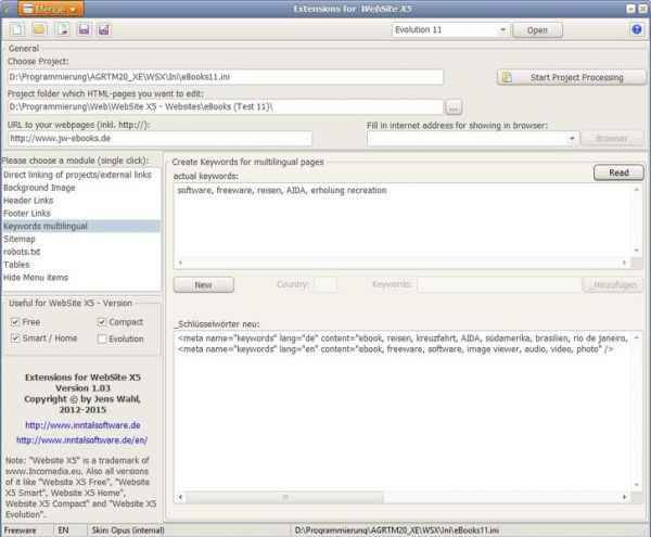 Vorschau Erweiterungen für WebSite X5 - Bild 1